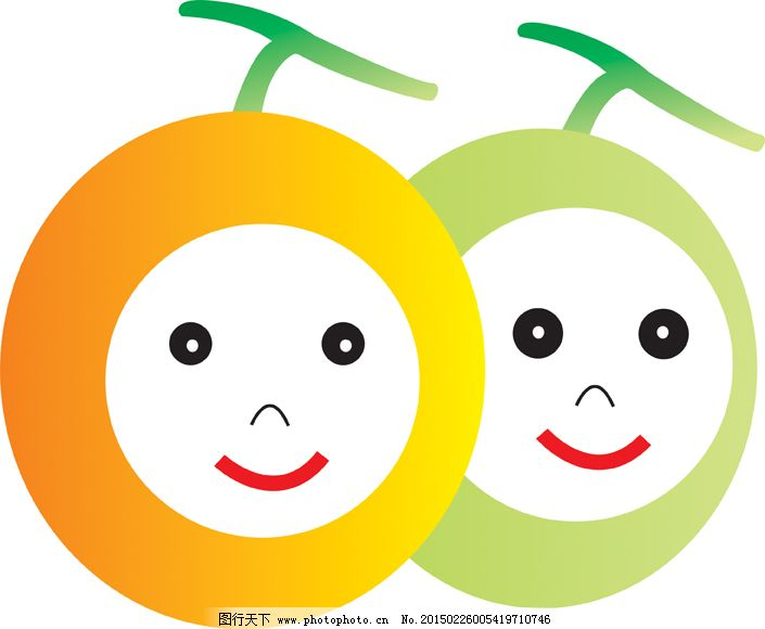 橘子卡通图片