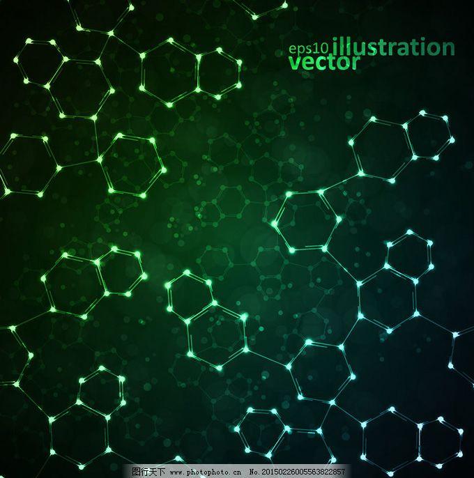 绿色科技背景矢量素材