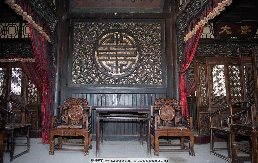 古代建筑室内透视