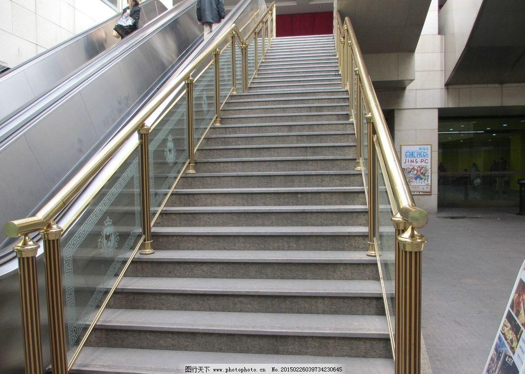 上海月星环球港 铜艺 铜扶梯 铜楼梯 通扶手 欧式建筑 石膏线