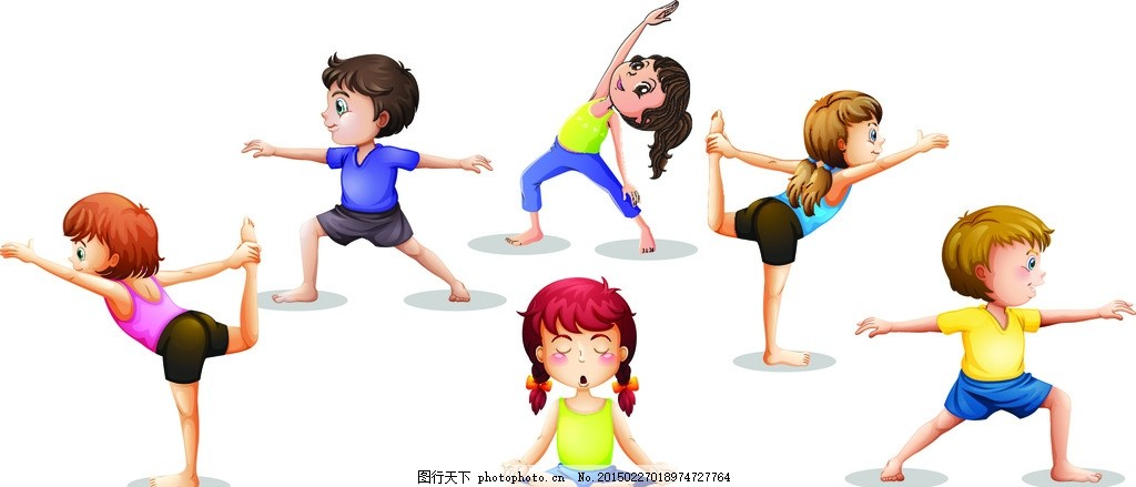 瑜伽 塑身 瘦身 健美 瑜伽女孩 瑜伽少女 手绘 锻炼 人物剪影