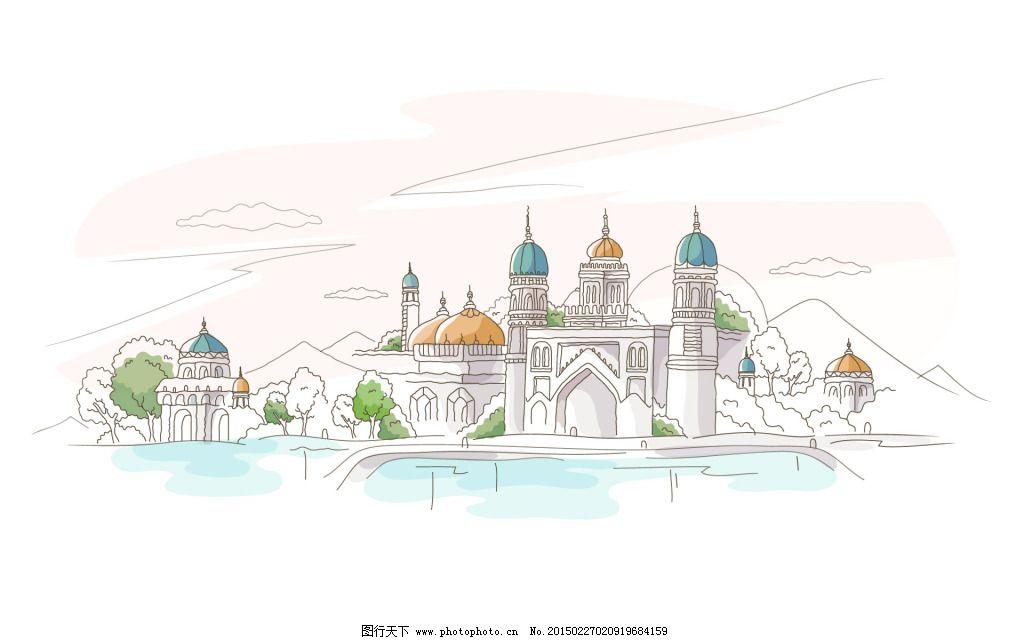城市设计手绘模式图