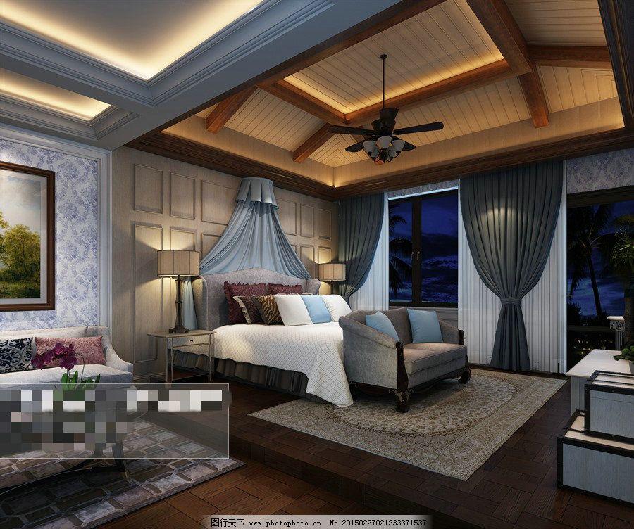 卧室场景空间3d模型素材