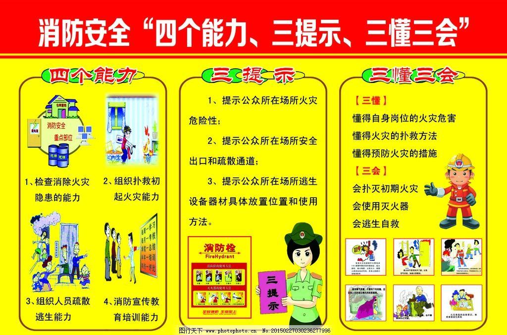 校园消防安全展板图片