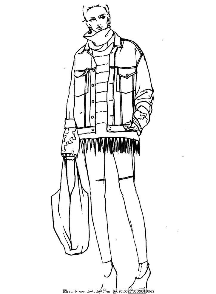 设计师手稿 速写图 服装设计        款式图 人体素描 设计专业 铅笔