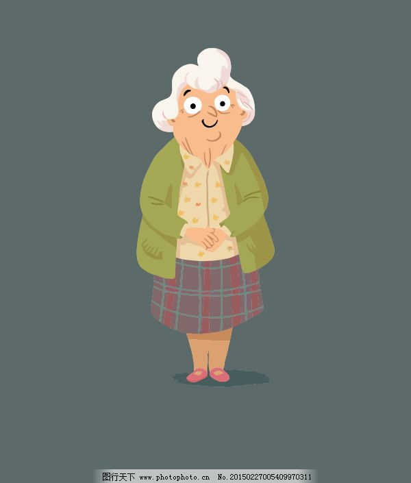 奶奶卡通人物造型