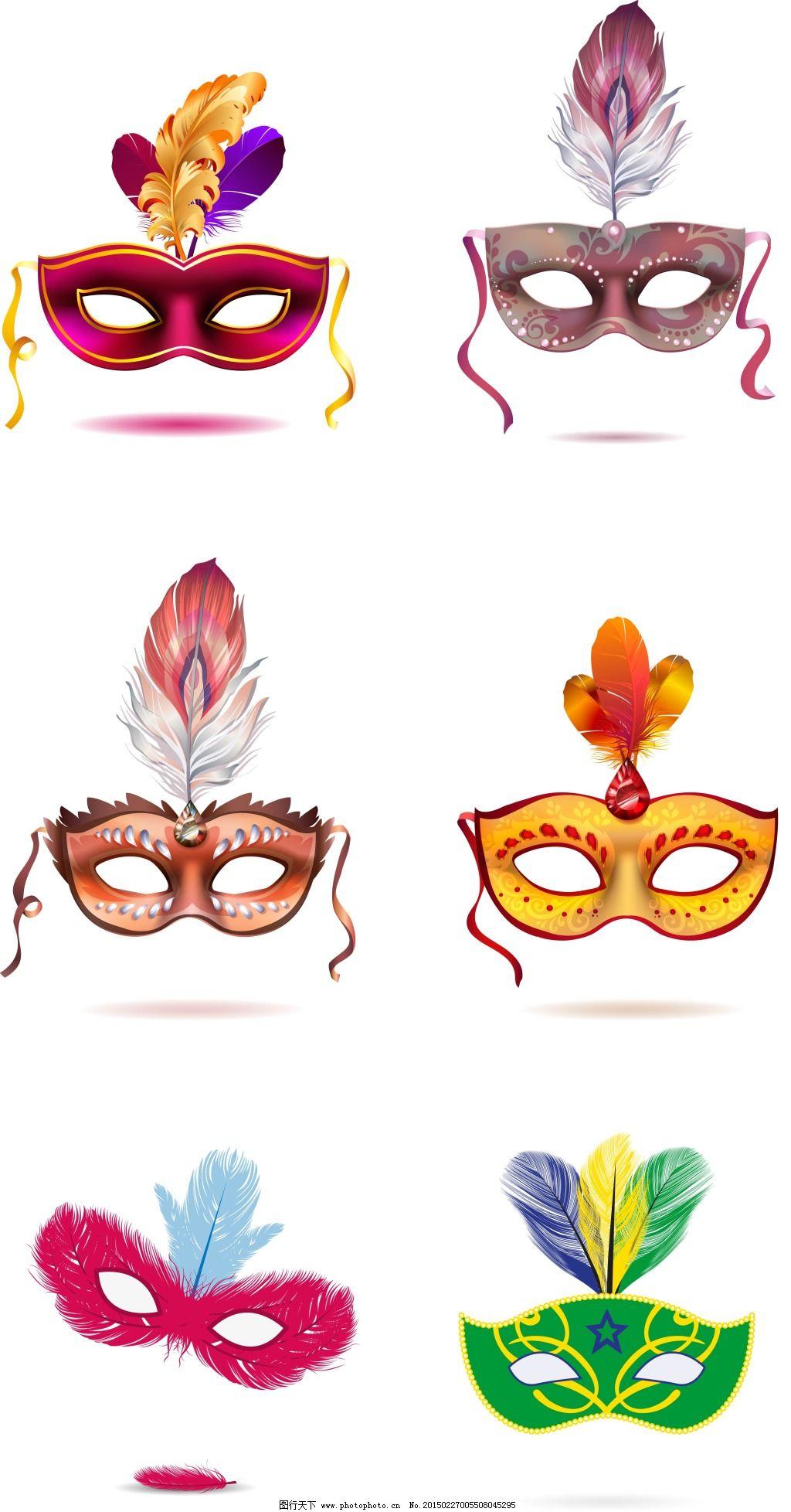 手绘舞台面具图片