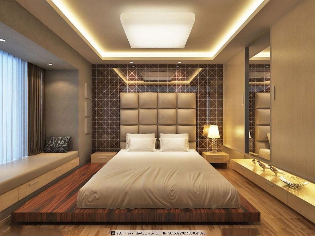 软包豪华卧室免费下载 灯光 设计           设计 灯光 家居装饰素材图片