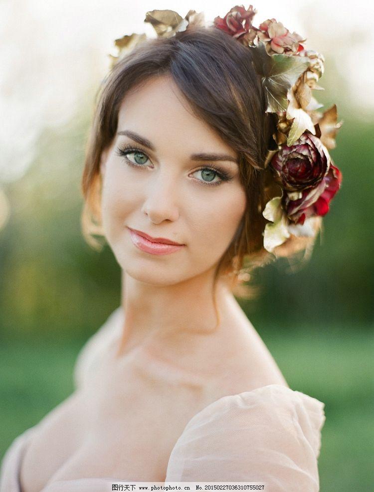 花环 美女 唯美 欧美美女 写真 艺术写真 美女壁纸 美女 摄影 人物