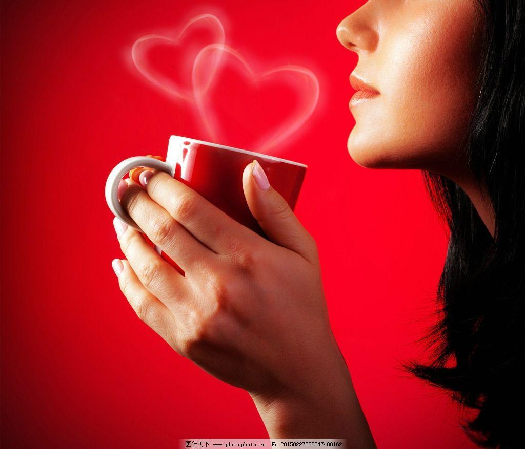 喝咖啡的美女图片,唯美 女孩 女人 可爱 浪漫 摄影-图