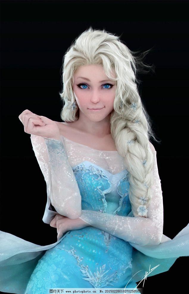 冰雪奇缘 手绘 女王 美女