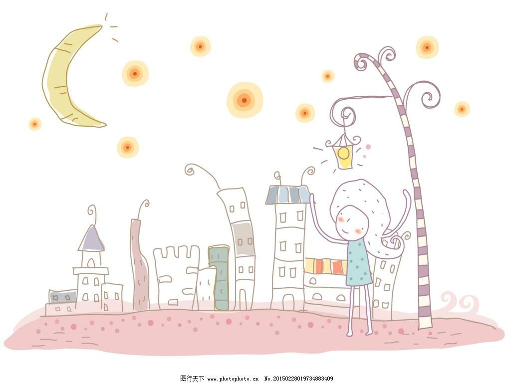 月亮卡通图片