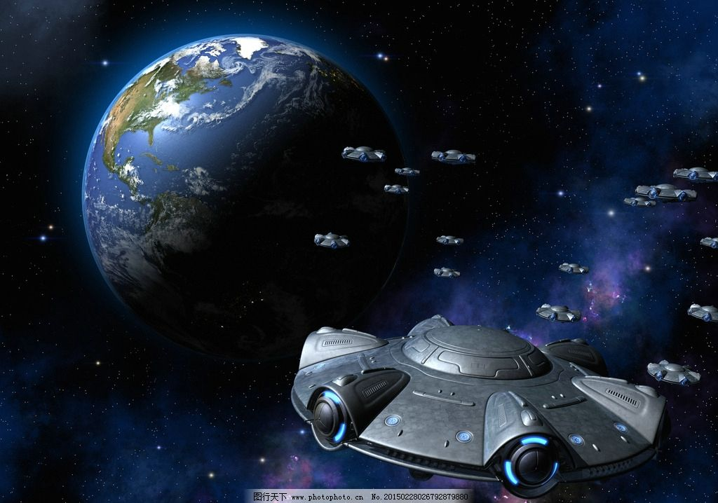 飞碟 飞行器 外星人飞机 地球 太空飞船 高科技 设计 设计 现代科技