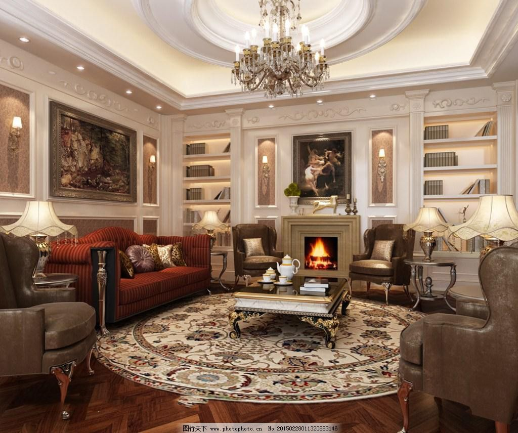 复式别墅客厅免费下载 高清效果图 客厅 欧式风格 欧式风格 复式别墅 客厅 楼梯装修 高清效果图 家居装饰素材 室内设计