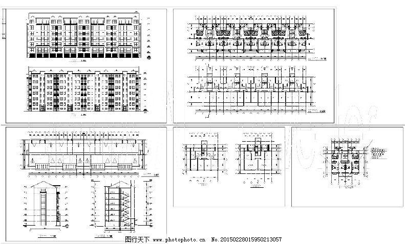 楼房规划cad图纸