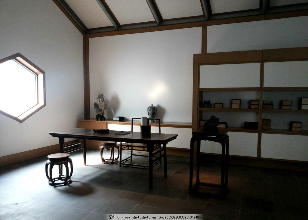 苏州 博物馆 书斋 古代家具 陈设 江苏 摄影 旅游摄影 国内旅游 72dpi