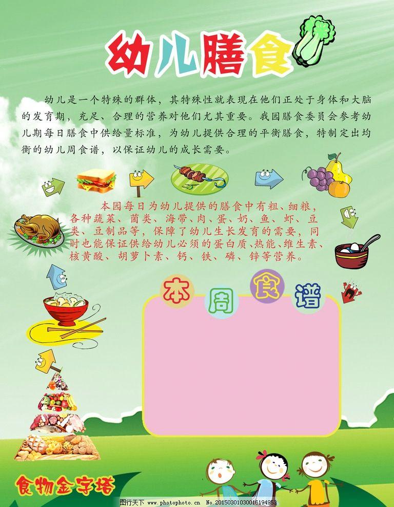 卡通画 绿色 食谱