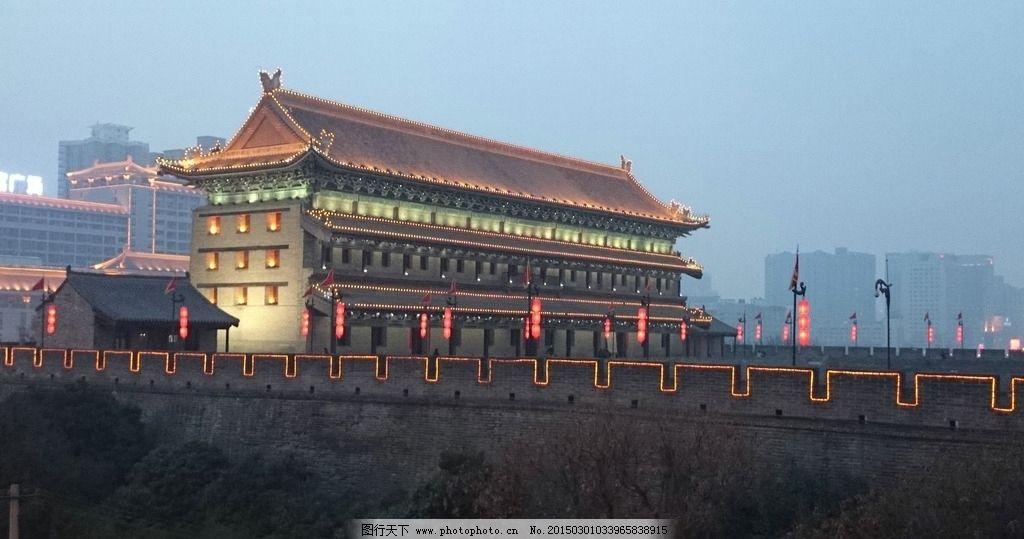 西安夜景 城门 门楼 彩灯 彩灯展 西安城墙 旅游日记 摄影 旅游摄影