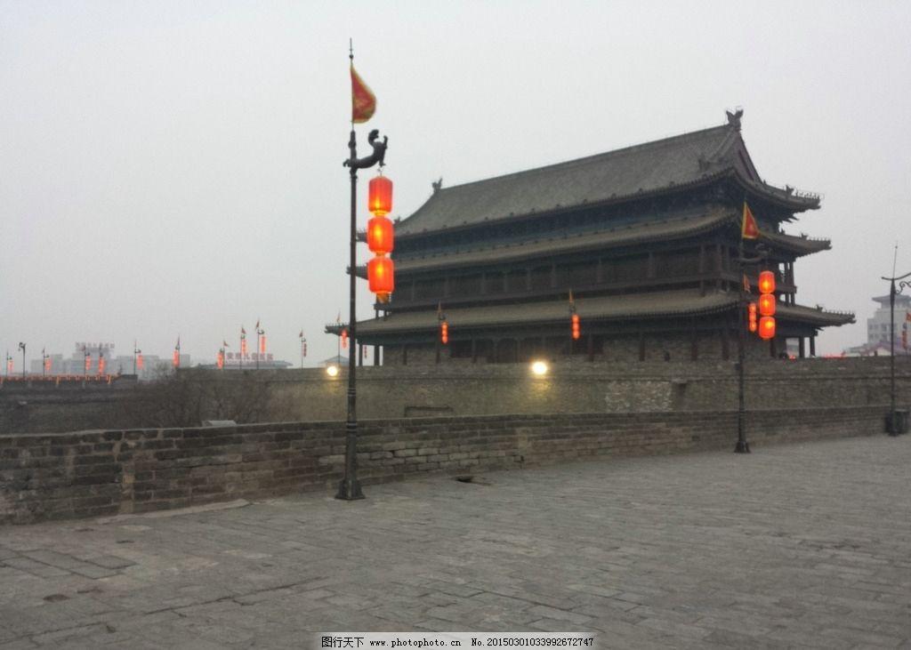 西安古城墙图片