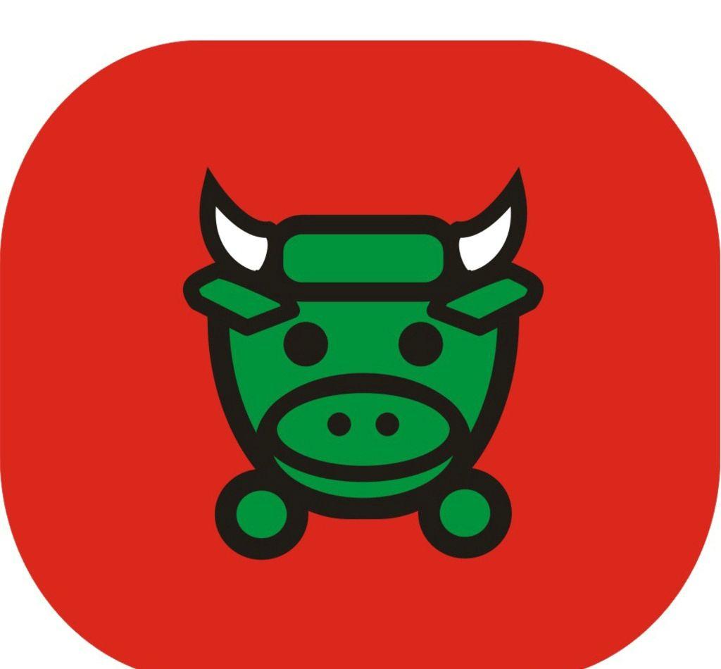 萌萌哒 漫画 小孩子 牛 牛牛 孩童 喜欢 最爱 小动物 印刷 拼接 logo