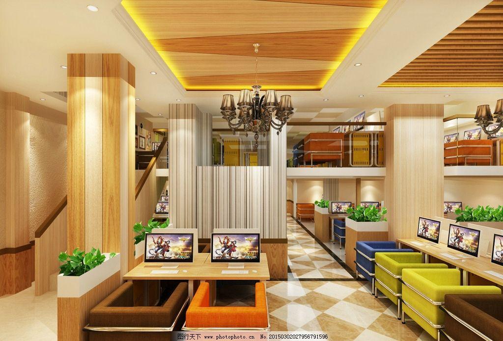 网吧 网咖 室内装修 装修效果图 网吧装修 设计 环境设计 室内设计 72