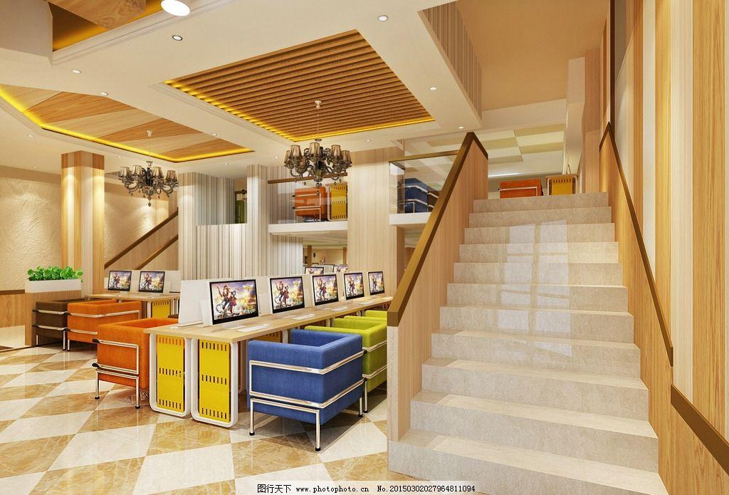 网吧 网咖 装修 室内装修 装修效果图 设计 环境设计 室内设计 72dpi