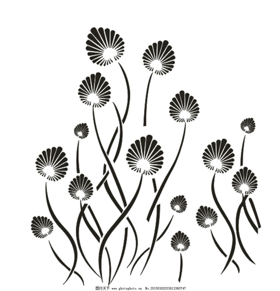 硅藻泥图案 硅藻泥矢量图 硅藻泥 硅藻泥背景墙 抽象花 扇子花 设计