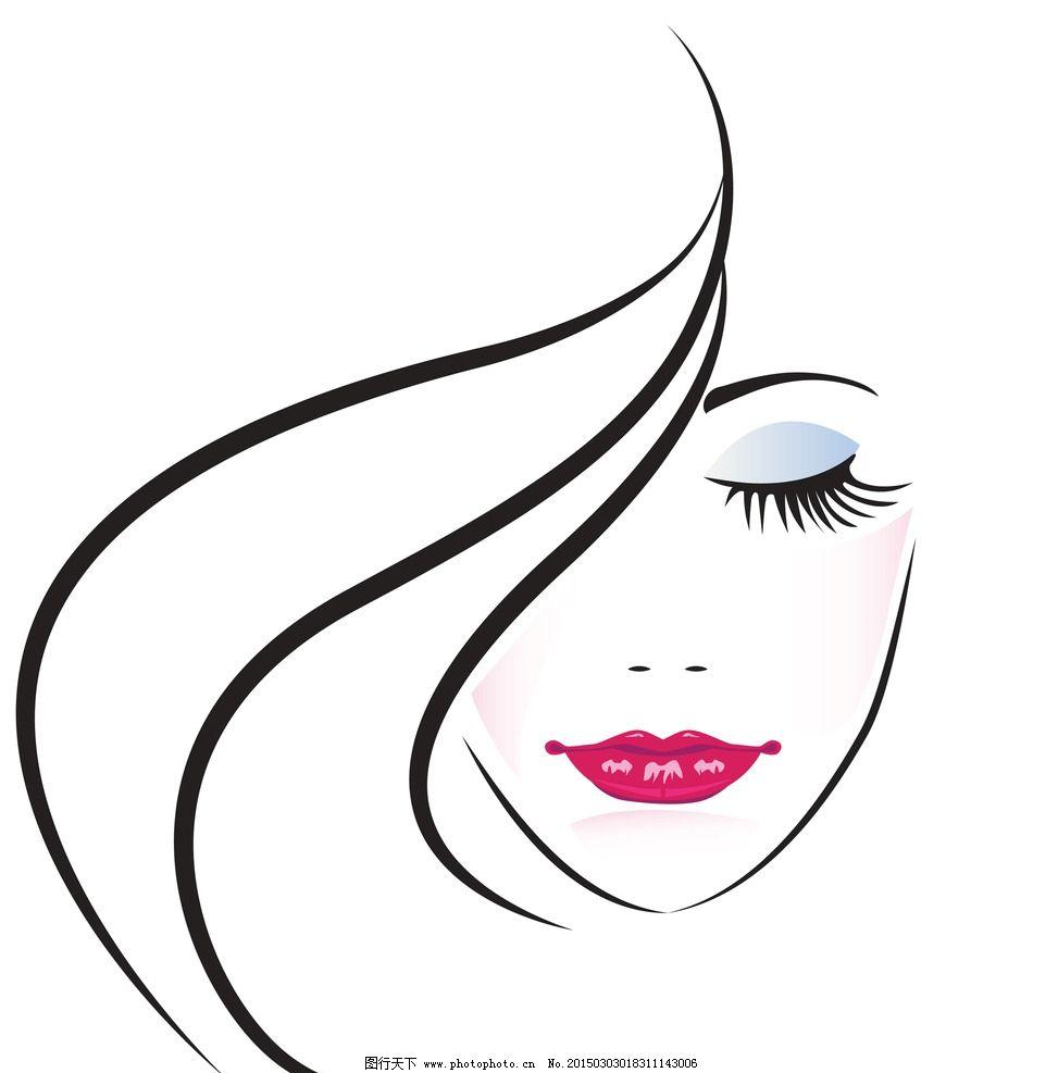 红唇 唯美 手绘美女