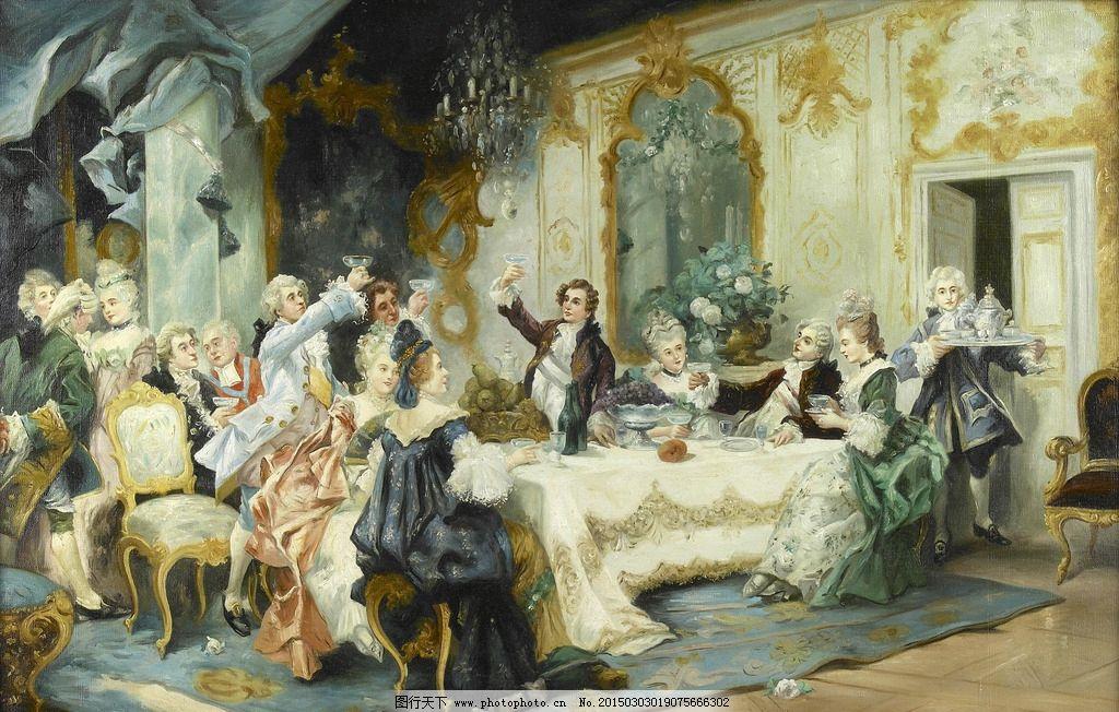 贵妇宫廷油画 宫廷油画 欧式油画 贵族油画 欧美油画 宫廷贵妇油画