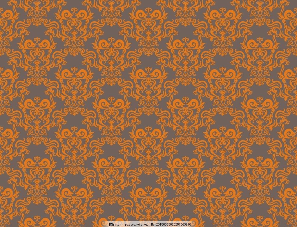 欧式花纹背景 精美欧式花纹 大马士革图案 墙纸 壁纸 欧式花纹 欧式