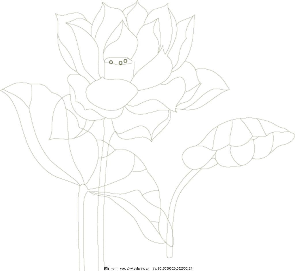 荷花 矢量 素描 美丽 西湖 设计 自然景观 自然风光 ai
