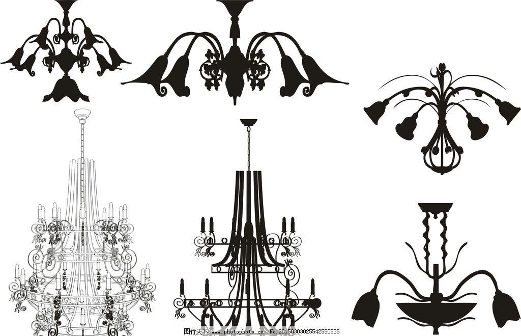 欧式吊灯素材图片
