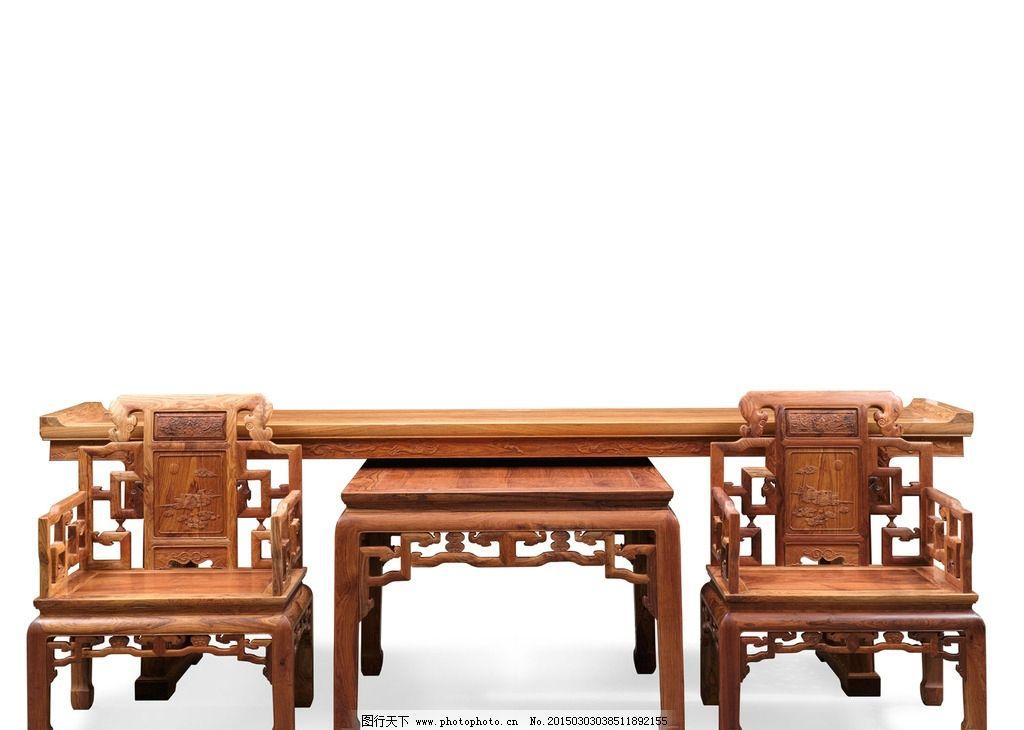 古典中堂家具 摄影照片 古典家具 红木家具 高清照片 多福多寿