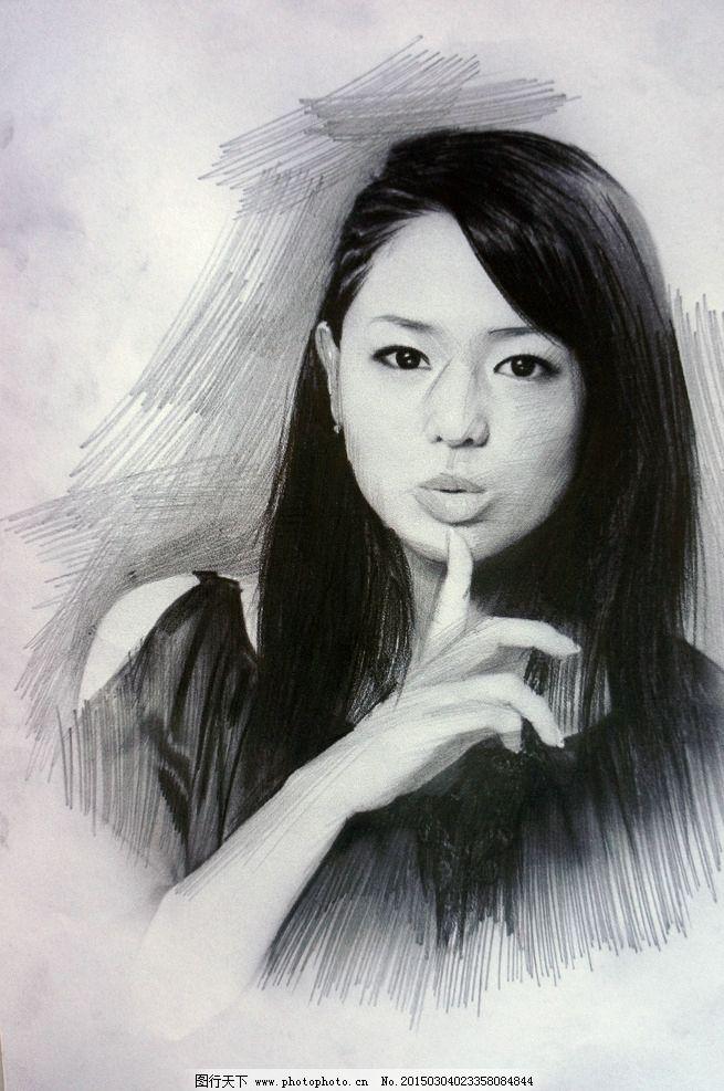 苍 井空 素描 铅笔 手绘  设计 人物图库 明星偶像 350dpi jpg