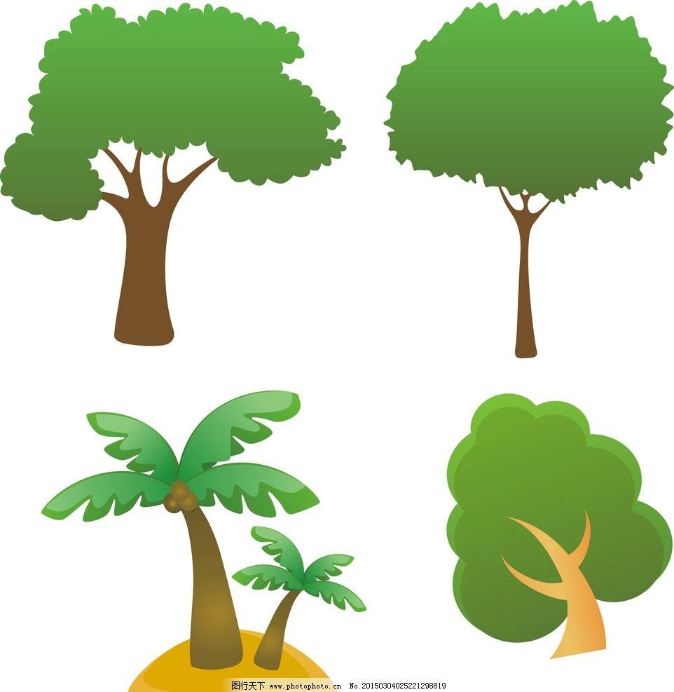 动漫手绘植物树