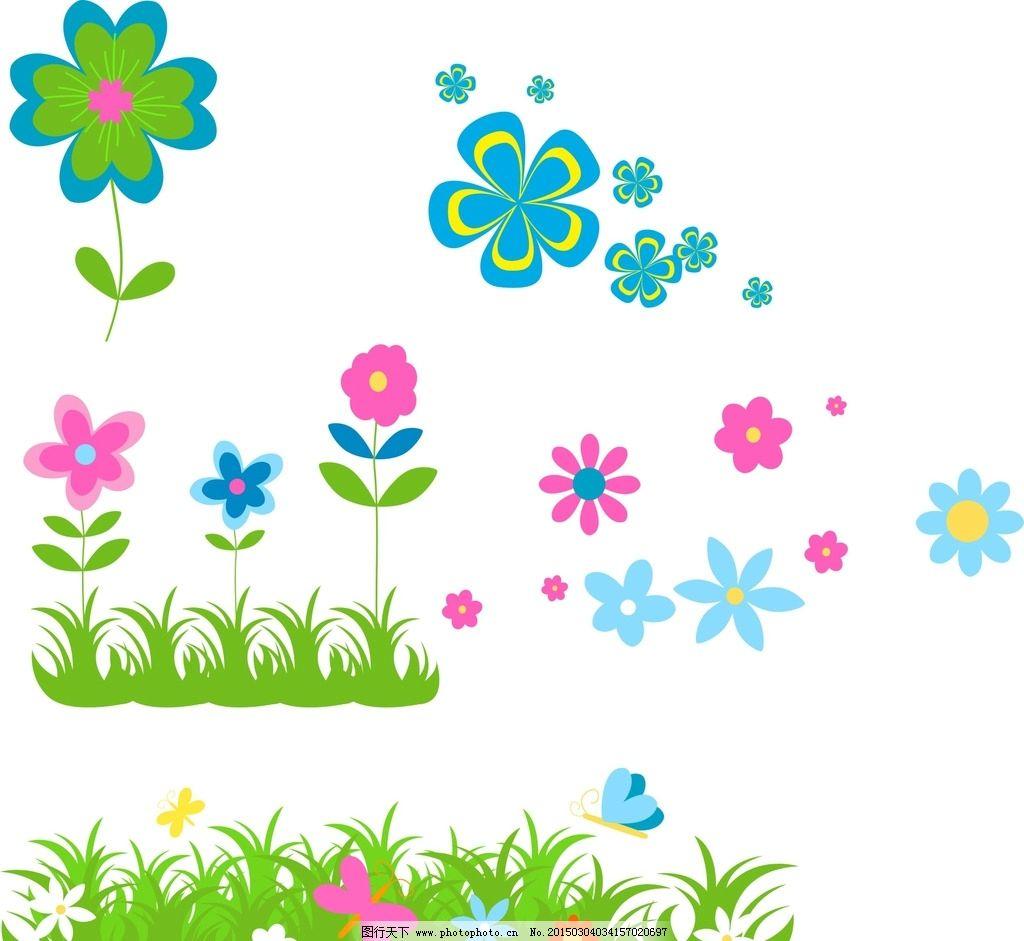 自然景观 自然风景  手绘素材 矢量花朵 矢量素材 各种花朵 素材 花藤