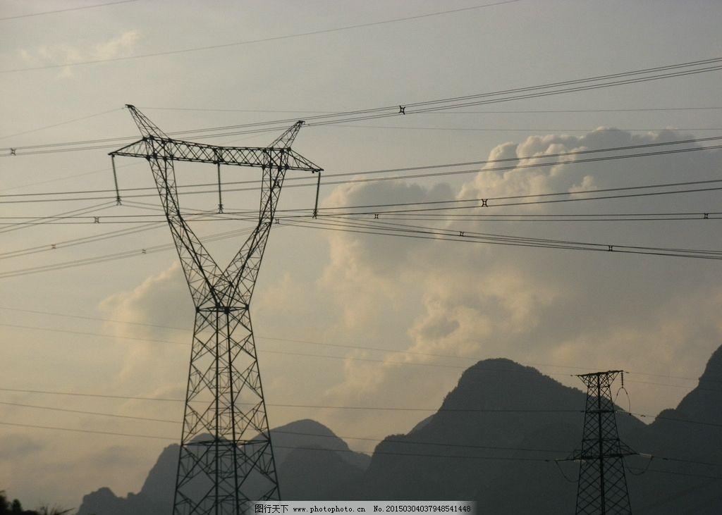 铁塔 杆塔 电力 电线 输电