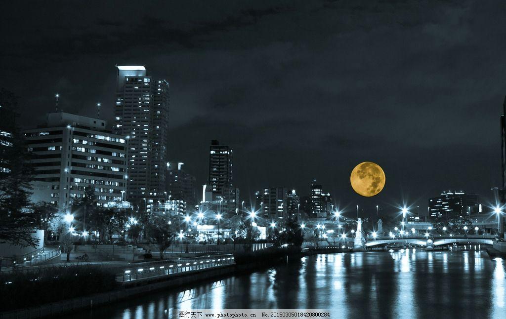 彩铅古风人物背影月亮