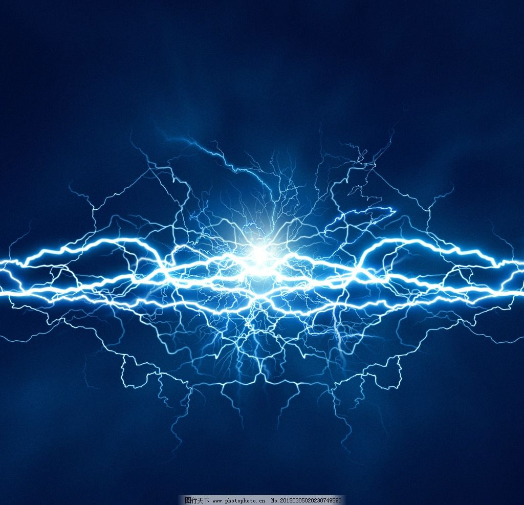 炫酷闪电背景图片