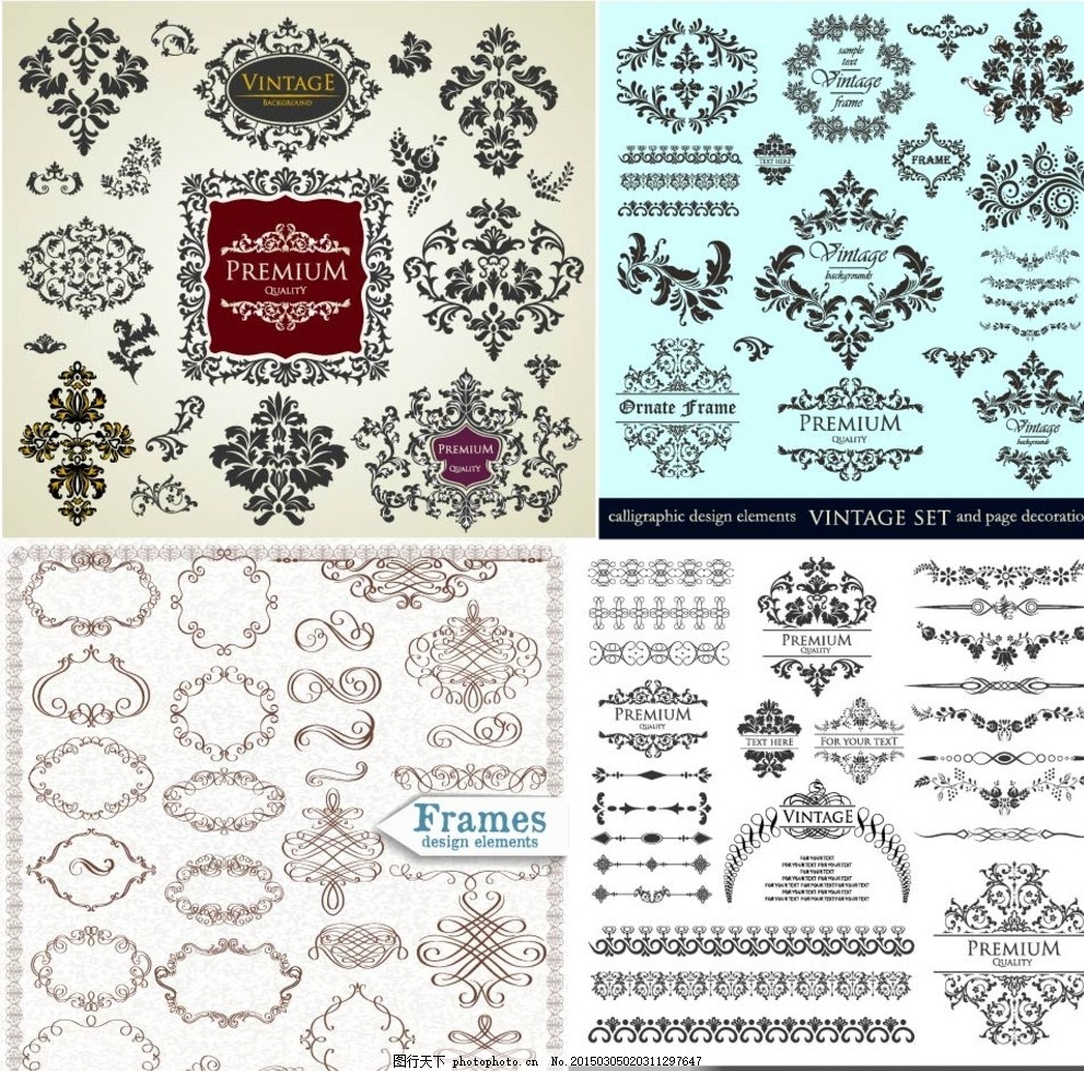 精美欧式花纹 大马士革图案 墙纸 壁纸 欧式花纹 欧式怀旧复古 花纹
