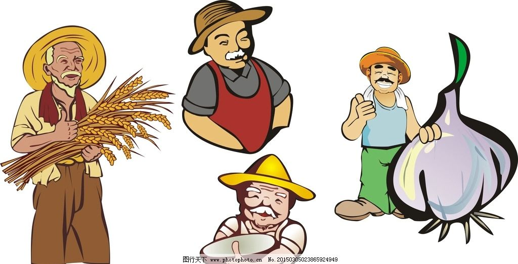 矢量素材 幼儿园 装饰素材 矢量装饰素材 卡通矢量素材 农民 农民伯伯