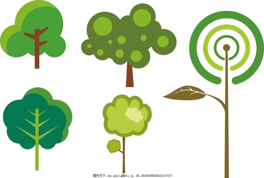 卡通素材 树木图片