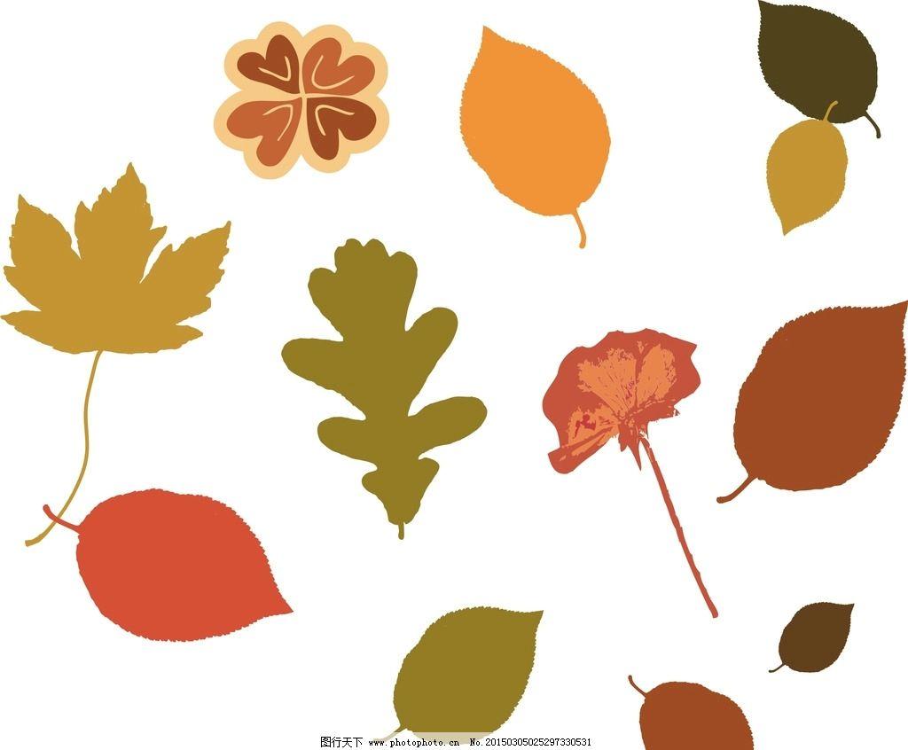 矢量图 卡通 矢量 可爱卡通 树叶 矢量树叶 秋叶 树叶素材 各种树叶