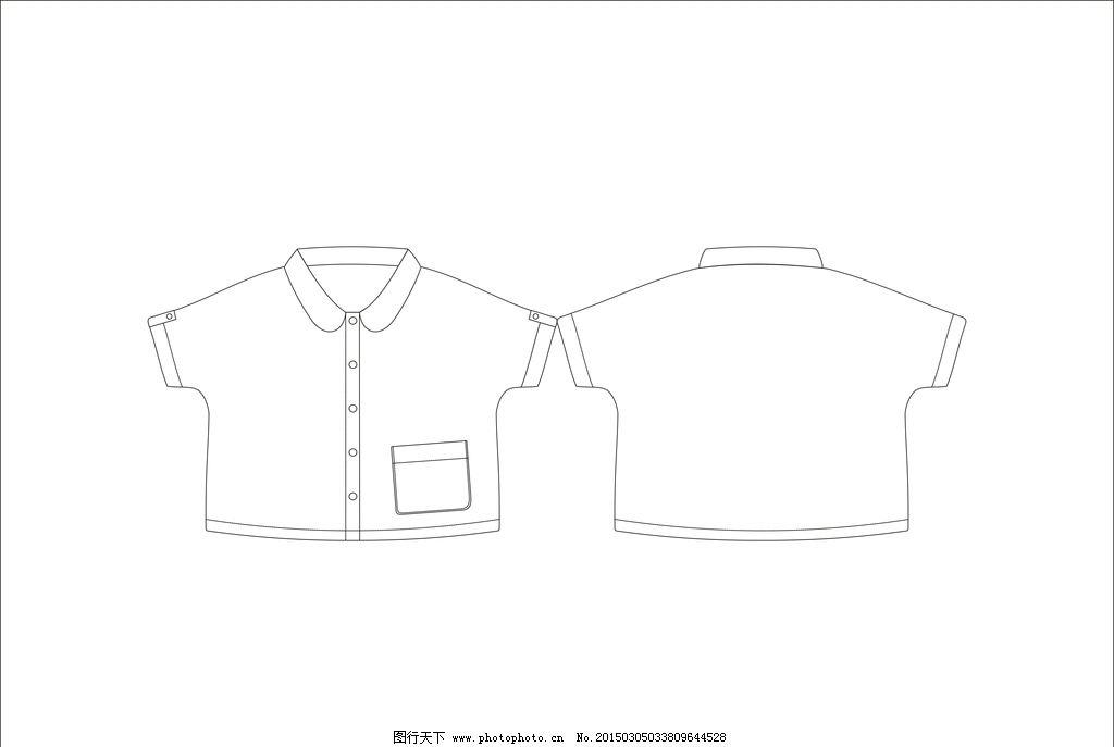 男童韩版衬衫 服装款式 服装款式图 款式图线稿 服装设计 上衣款式图