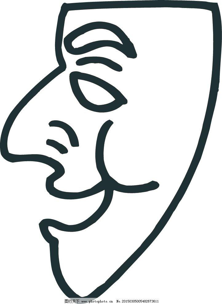 侧脸 简笔画 卡通头像 卡通头像 侧脸 简笔画 矢量图 矢量人物