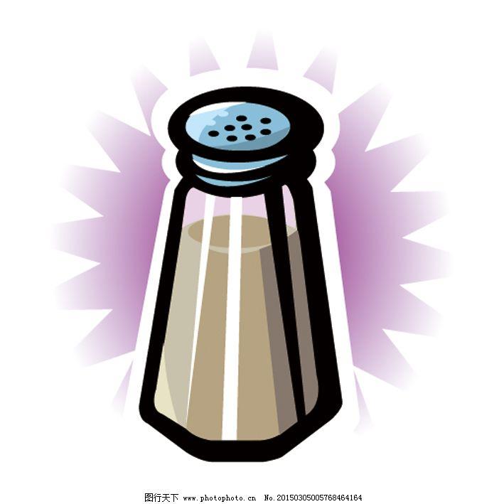 厨房用品 调味瓶 厨房用品 调味瓶 矢量图简笔画生活小物件 日常生活