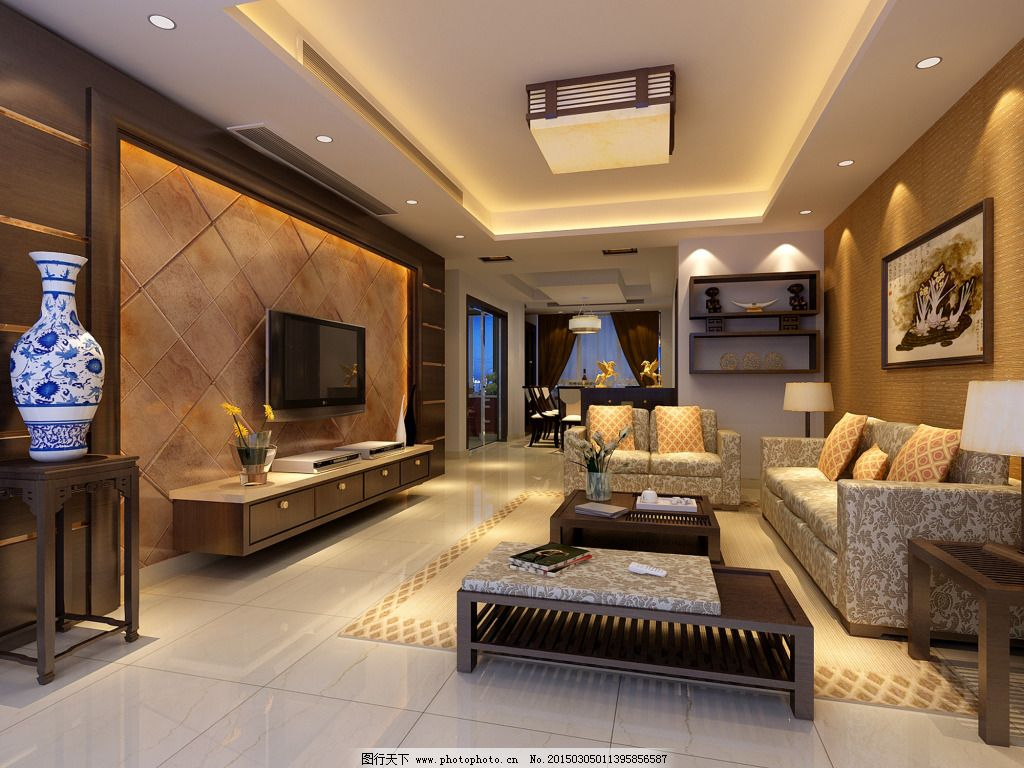 欧式客厅设计图图片