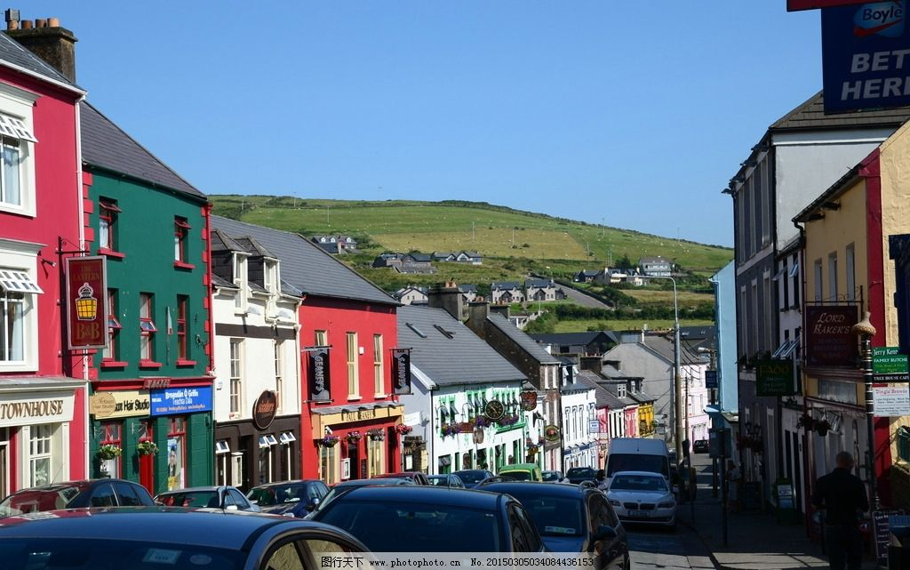 风景 风光 旅行 英国 欧洲 爱尔兰 丁格尔岛 街景  摄影 旅游摄影