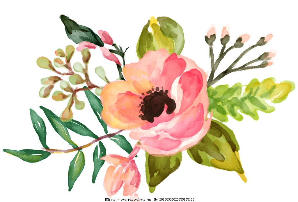 小清新边框花纹简笔画-花朵图片