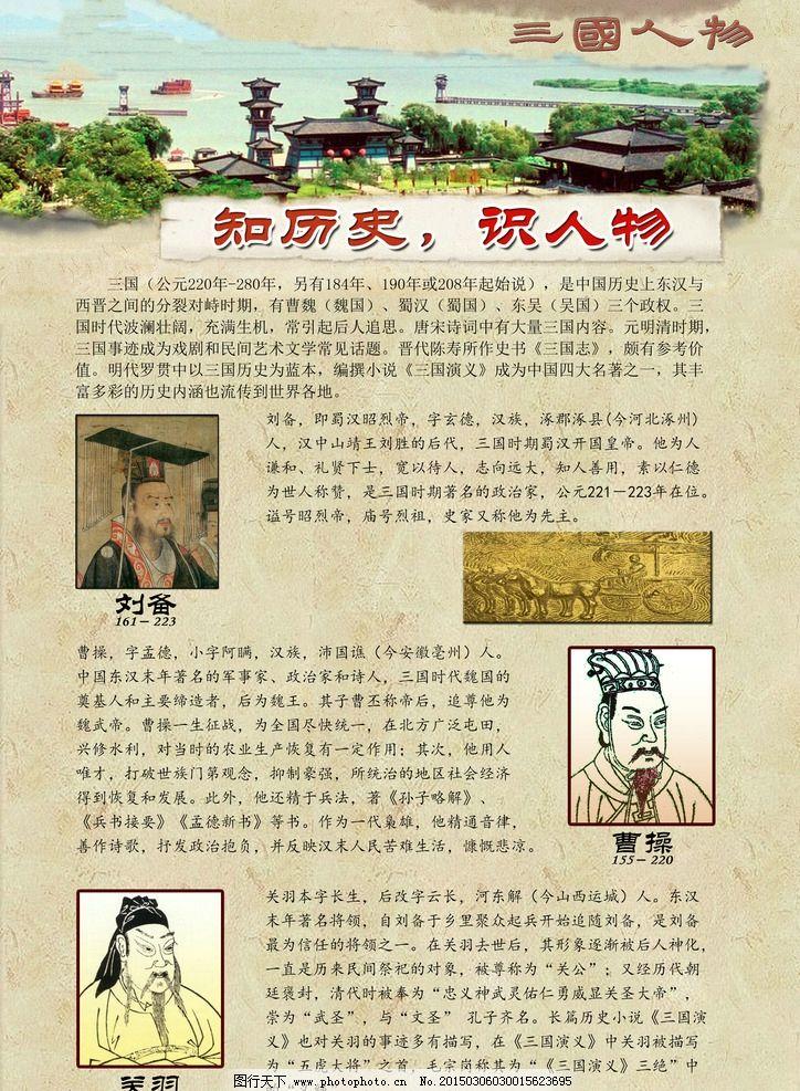 三国 小报 古典 三国人物 三国演义  设计 广告设计 海报设计 300dpi